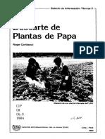 Descarte de plantas de papa