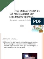 Manejo Ético Del Adolescente Con Enfermedad Terminal,Dra. María Saravia. Perú