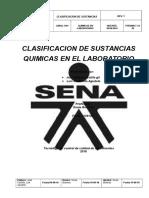 Protocolo de Clasificacion de sustancias Quimicas