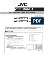 JVC Rear Projection TV AV-48WP74-AV-56WP74 Parts and Service Manual