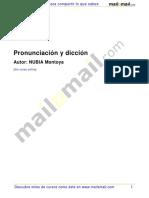 Pronunciacion y Diccion