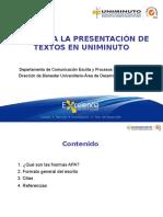 Presentacion Textos UNIMINUTO, CEPLEC y Bienestar (Normas APA)