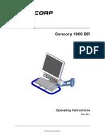 Cencor 1000BR Operating Instructions 2.2.1