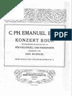 C P E Bach Cello Concerto in B Flat