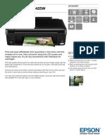 Epson Stylus SX425W Datasheet