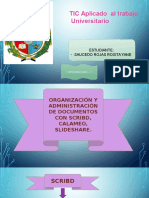 ORGANIZACIÓN Y ADMINISTRACIÓN DE DOCUMENTOS CON SCRIBD, CALAMÉO, SLIDESHARE.