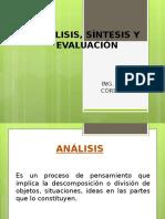 Análisis, Síntesis y Evaluación