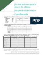 Pontuacao Divisao Silabica Translineacao Tipos e Formas de Frase Classificacao Quanto a Posicao Da Silaba Tonica