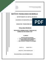 Recocido Normalizado y Ensayos de Dureza de Un Acero 4140 (1)