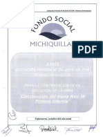 Bases Licitacion Privada N 4 -2016-CE-FSM Construccion Del Wawa Wasi Michiquillay