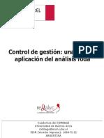 Control de Gestion - Una Posible Aplicacion Del Analisis Foda