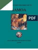 Peace Corps Samoa Welcome Book  |  April 2010