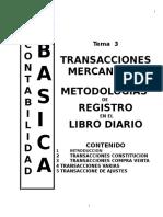 Tema3transacciones Mercantiles (Metodologia de Registro)