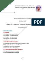 Chapitre 1- L Entreprise-Definition-classification Et Fonctions