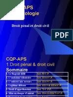 CQP APS. Droit p Nal Et Droit Civil