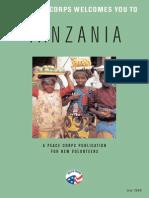 Peace Corps Tanzania Welcome Book  |  July 2008