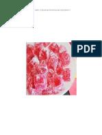 Informe Elaboracion de Gomitas de Fresa