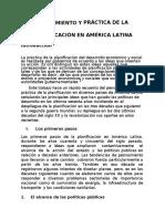 Pensamiento y Práctica de La Planificación en América Latina
