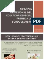 Ejercicio Profesional Del Educador Especial Frente a La Sordocegura
