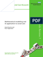 Math Modelling and Its Application to Social Care