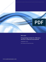 The Growing Market for OSS-As-A- Service in Telecommunications. White Paper. September 2015. Dean Ramsay and Shanthi Ravindran. About Analysys Mason 1