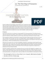 Channel Purification - The First Step in Pranayama