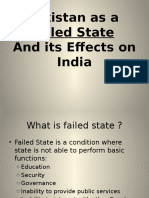 Pakistan as a Failed State and Its Effect