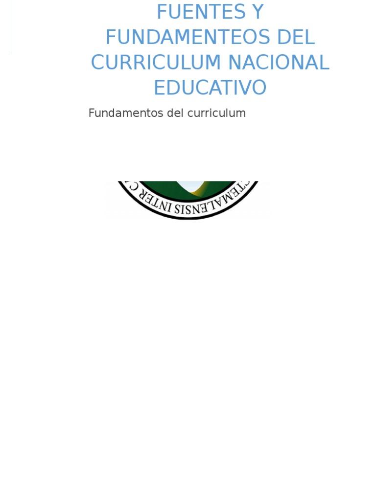 Enfoques Del Curriculum