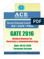 Ace Academy GATE 2016 ECE Set 1