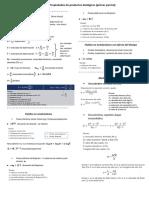 Fórmulas de Propiedades de Productos Biológicos