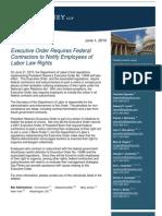 Executive Order Union Labor Law June 2010