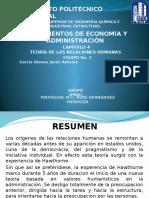 Teoria de La Relaciones Humanas Economia