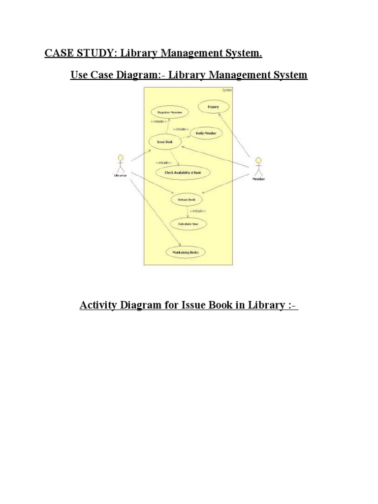 Library Management System Case Study The Best Library 2018
