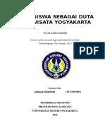Mahasiswa Sebagai Duta Promosi Pariwisata Yogyakarta