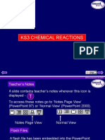 KS3 Chemical Reactions