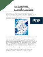 La Música Dentro de Nosotros
