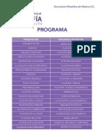 Programa XVIII Congreso Internacional de Filosofía