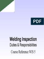 WIS5 Duties and Responsibilities