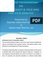 A Seminar Presentation on Balance Sheet & True and Fair View Analysis