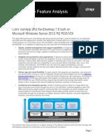 XenApp and XenDesktop on Microsoft RDSVDI Feature Comparison