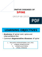 Degenerative Diseases of Spine