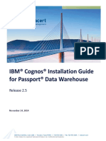 Passport Cognos 2.5 Installation Guide