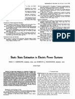 Static State Estimation in Electric Power System