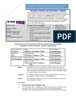 Bizmanualz Business Policies and Procedures Sampler