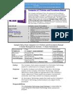 Bizmanualz Computer IT Policies and Procedures Sample