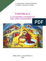Pastorala Nasterea Domnului 2013