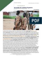 Sud Sudan ONU Accusato Di Crimini Di Guerra