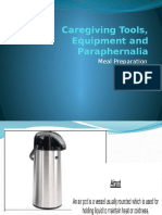Caregiving Tools, Equipment and Paraphernalia