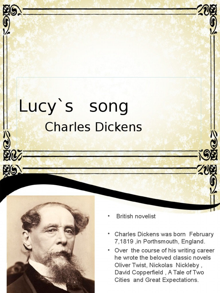 Lucy S Song Charles Dickens Poetry