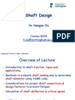Lecture 5 Shaft Design With Solutions